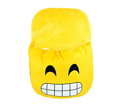 Media wave store ciabattona cuscino 395264 scaldapiedi emoticon calda e morbida idea regalo (denti stretti)