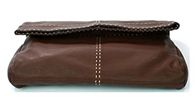 """Michael Kors """"hutton"""" Collection Foldover Clutch Bag Leather RRP £610.00"""