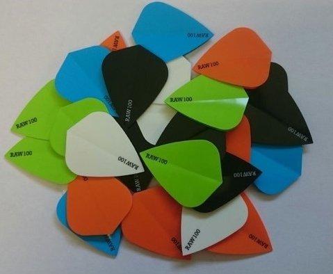 10-x-sets-raw100-neon-blue-dart-flights-kite-shaped-tough-thick-flights