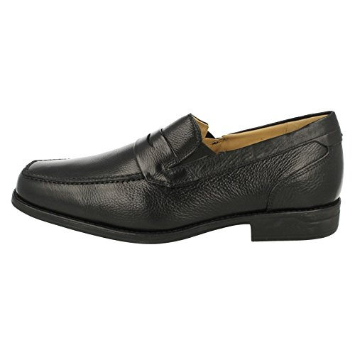 Herren SMART Leder Slip auf Schuhe 'Barbosa–777710' Schwarz