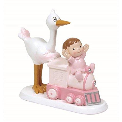 Figure Cake Baptism Cigüena baby pink train