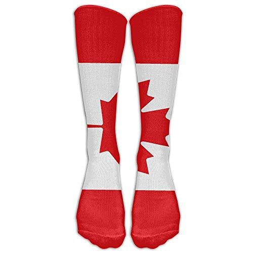 Lässige Erwachsene Fußball Fußball Sport Strümpfe Kanada Ahorn Flagge Rohr Mädchen Hohe Lange Socken -
