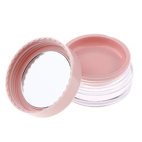 Fenteer Conteneur de Boîte Rond Vide en Plastique pour Baume à Lèvres, Bougie, Fard à paupières en Forme de Fleur - Rose