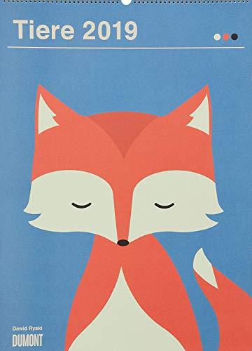 Dawid Ryski: Tiere 2019 – Kinder-Kalender – Poster-Format 49,5 x 68,5 cm