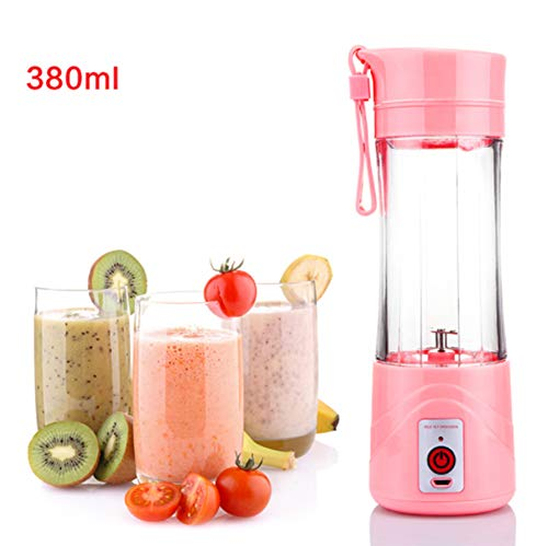 YRRC 380 Ml Smoothie Mixer Katze Outdoor Mini Saft Tasse USB Elektrische Entsafter Multifunktionale Tragbare Obstschale Saft Tasse,Pink