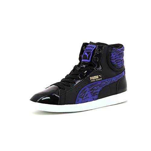 Puma First Round Animal Jr, Baskets mode fille Black/Blue