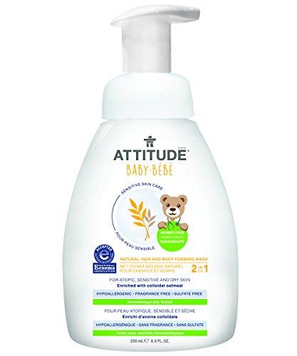attititude empfindliche Haut Baby, natürlichen Haar und Körper Schäumendes Waschen -