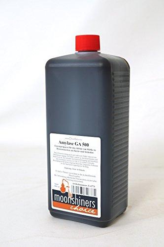 MoonshinersChoice® Amylase Enzyme GA 500 ❀ 1000 ml = ausreichend für bis zu 5.000 Liter Maische