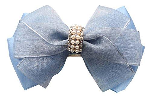 2 Pcs Cheveux Ornements épingle à Cheveux en Soie Gauze Folder Princess Clip Cheveux Chuck Jewel