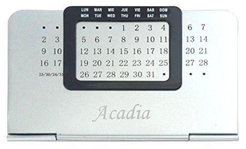 Ewiger Kalender mit eingraviertem Namen: Acadia (Vorname/Zuname/Spitzname) -