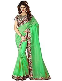 Greenvilla Designs Green Silk Wedding Saree With Blouse