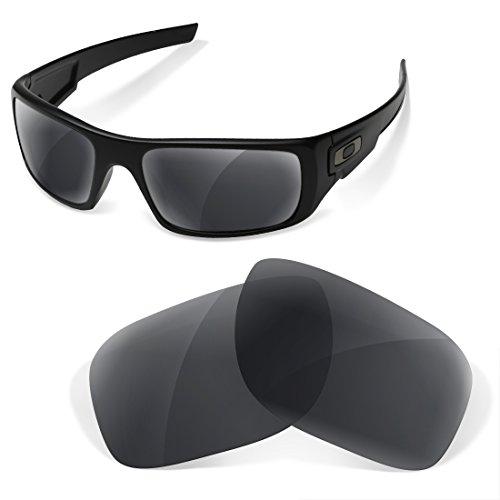 sunglasses restorer Kompatibel Ersatzgläser für Oakley Crankshaft (Black Iridium, Polarisierte)
