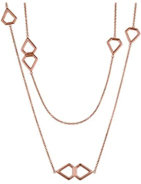 Liebeskind Berlin Damen-Kette mit Anhänger Mutlti Icon Collier Rosegold 85 cm