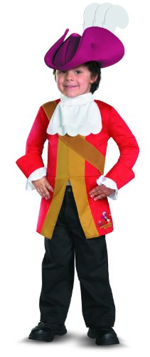 Disguise Costumes Disney Jake und die Neverland Piraten Captain Hook Kleinkind/Kind Kostüme -4T6T