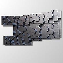 Cuadro moderno, mod. abstracto 33, multipanel y multinivel, 3D, 20 combinaciones de hasta 293 cm