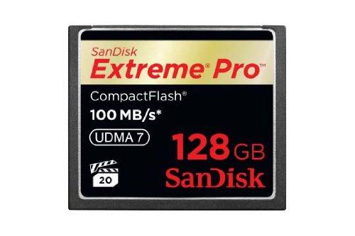 Sandisk extreme pro compactflash scheda di memoria 128 gb, 100 mb/s