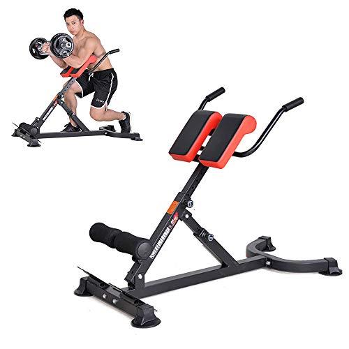 YUSDP Schwerer römischer Stuhl - Workout Abdominal Back Extension Bench - 6 einstellbare Neigungshöhe - Ergonomisches Design, Krafttraining - für Heim und Fitnessstudio