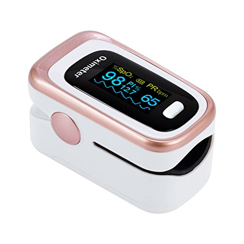 Pulsossimetro-Saturimetro OLED Display a colori-Misura velocemente e in modo accurato il battito cardiaco(PR) - l'ossigenazione del sangue (SpO2)-l'indice di desaturazione dell'ossigeno del 4% (ODI4)