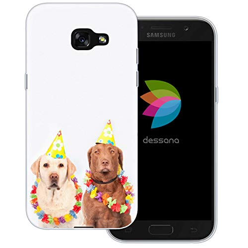 dessana Fasching Party transparente Schutzhülle Handy Case Cover Tasche für Samsung Galaxy A5 (2017) Kostüm ()