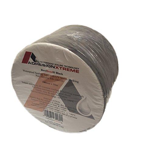 AX*PREMIUM*10m*50mm Klebeband Dichtung Teichfolienklebeband Reparaturband SCHWARZ Wasserdicht, selbstklebend (schwarz)