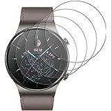 GEEMEE Protector Pantalla para Huawei Watch GT2 Pro Glass Protector de Pantalla,4 Pack Premium 9H Dureza Vidrio Templado, Fác