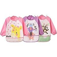 oral-q Unisex niños Childs artes manualidades pintura delantal bebé babero impermeable con mangas y