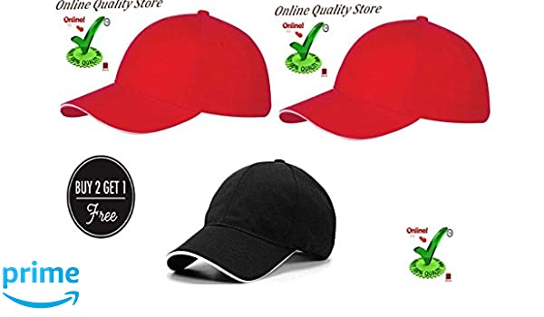 eae3f016e76 Online Quality Store Unisex Cap (Red)  Amazon.in  Clothing   Accessories