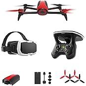 Parrot Bebop 2 FPV Drohne im Set mit Skycontroller und FPV-Brille rot