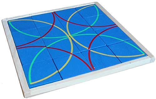 Woru Lege-Puzzle Kreise aus Holz  - Holz-puzzle Kreis