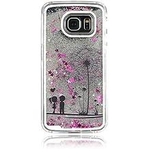 Casos hermosos, cubiertas, Par de diente de león pc estrellas estereoscópica caja del teléfono arenas movedizas para Samsung Galaxy S4 / S5 / S6 / s6edge (colores ( Color : Plateado , Modelos Compatibles : Galaxy S5 )