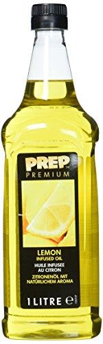 PREP PREMIUM Zitronenöl 1 x 1000 ml PET - Infused Oil natürliches Zitronenaroma für Fisch, Geflügel, Gemüsegerichte oder Salatdressings, Olivenöl mit Zitrone -