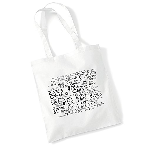 Studio d'art Sac fourre-tout - Snow Patrol - Eyes Open - Musique Paroles Album Art Poster Print Plage Gym Festival Shopper Cadeau