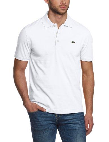 Lacoste Herren Poloshirt L1230-00, Einfarbig, Gr. X-Small (Herstellergröße: 44)(T2), Weiß (001 BLANC) (Weiße-kragen-polo-t-shirt)