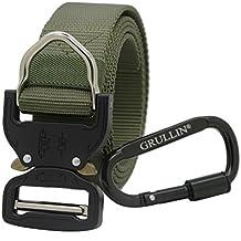 Cintura Tattica,Cintura in Vita Pesante in Nylon, GRULLIN CQB Reggers Cintura, Cintura di Cintura Stile Militare con Fibbia in Metallo a Sgancio Rapido