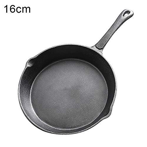Gusseisen-Bratpfanne Pfanne Wasserkocher rauchfreie Pfanne Küche Kochgeschirr Induktion Herd 16 cm (Wasserkocher Pizza Grill)