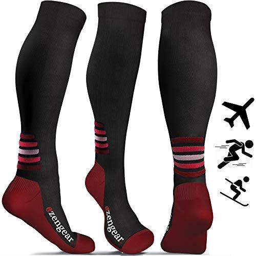 more photos 5914a 82e93 Calcetines de compresión para hombres y mujeres, para deporte, maratones,  enfermeras, estrés