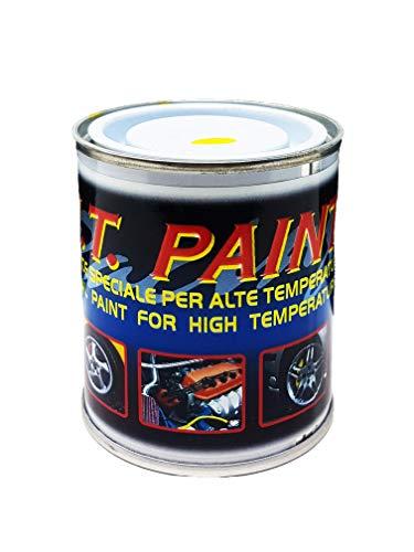 Quattroerre 16071 vernice per pinze freni, marmitte, testate, monoblocchi resistente alle alte temperature, colore giallo