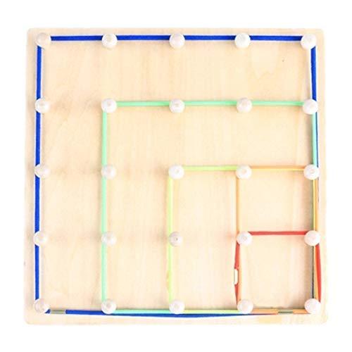 dung Brett Holz Spiele Geometrische Gummiband-Mädchen-Geschenke Umweltfreundliche Math Spielzeug für Kinder Vorschul Geschenk ()