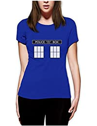 POLICE BOX dr doctor show series Women Fitted Top T-Shirt