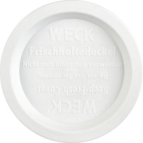 Weck Frischhaltedeckel aus Kunststoff - Ø 80 mm - weiß - 5 Stück