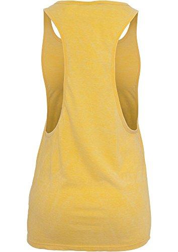 TB456 Ladies Loose Burnout Tank Top Yellow