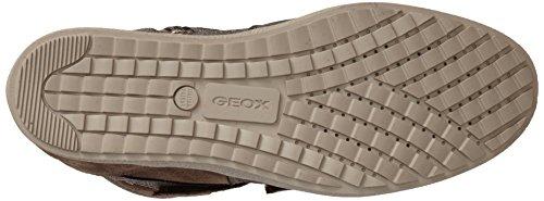 Geox D Amaranth H B, Damen Hohe Sneakers Braun (c1b9h/scam/vit Br)