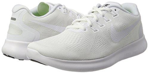 Nike Herren Free Rn 2017 Laufschuhe, Weiß (White/White-Black-Pure Platinum), 40.5 EU -