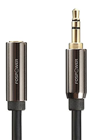 Audio Extension Cable (7.6M/25FT), FosPower 3.5mm Male to Female Audio Auxiliary Stereo Jack Cable Cord [Gold Plated] for Phones, Headphones, Speakers, Tablets, PCs, MP3 Players and