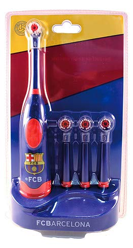 FC Barcelona Electronic Toothbrush With 3 Spare Heads