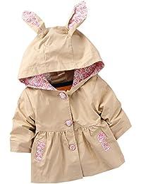 Free Fisher Baby/Kinder Mädchen Trenchcoat Übergangsjacke mit Kapuze