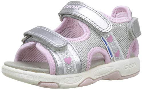 Silber Baby-mädchen (Geox Baby Mädchen Multy Girl B Sandalen, Silber (Silver/Pink C0566), 21 EU)