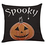 SEWORLD Happy Halloween Leinen Dekokissen Fall Kissenbezug Home Sofa Decor Neu D
