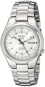 Seiko Men's 5 Automatic SNK613K Silver Stainless-Steel Automatic Watch with Silver Dial