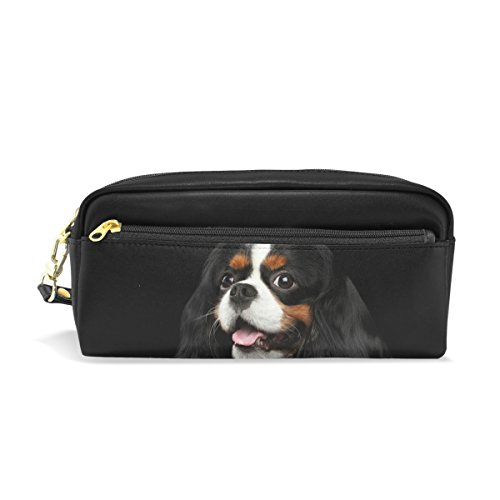 mydaily Cavalier King Charles Spaniel Hund Federmäppchen Pen Tasche Münzfach Kosmetik Make-up-Tasche -
